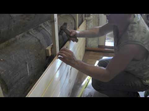 Как крепить вагонку к стене горизонтально