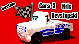 Pixar Cars 3 Custom Kris Revstopski Official with Miss fritter and Primer Lightning McQueen Cars