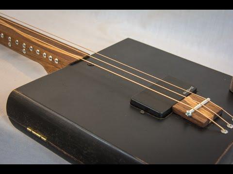hadmade cigar box guitar with emg pickup youtube. Black Bedroom Furniture Sets. Home Design Ideas