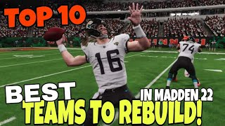 Best Teams to 🔨Rebuild📈 in Madden NFL 22 Franchise Mode with updated rosters & Rookie Player Ratings