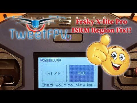 Repeat Frsky X lite Pro ISRM region fix by TweetFPV - You2Repeat