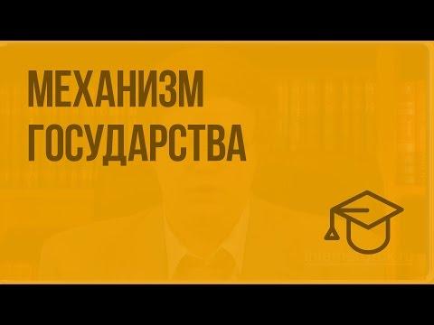 Механизм государства. Видеоурок по обществознанию 10 класс