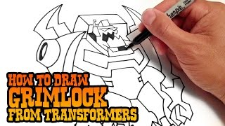 How to Draw Grimlock | Transformers