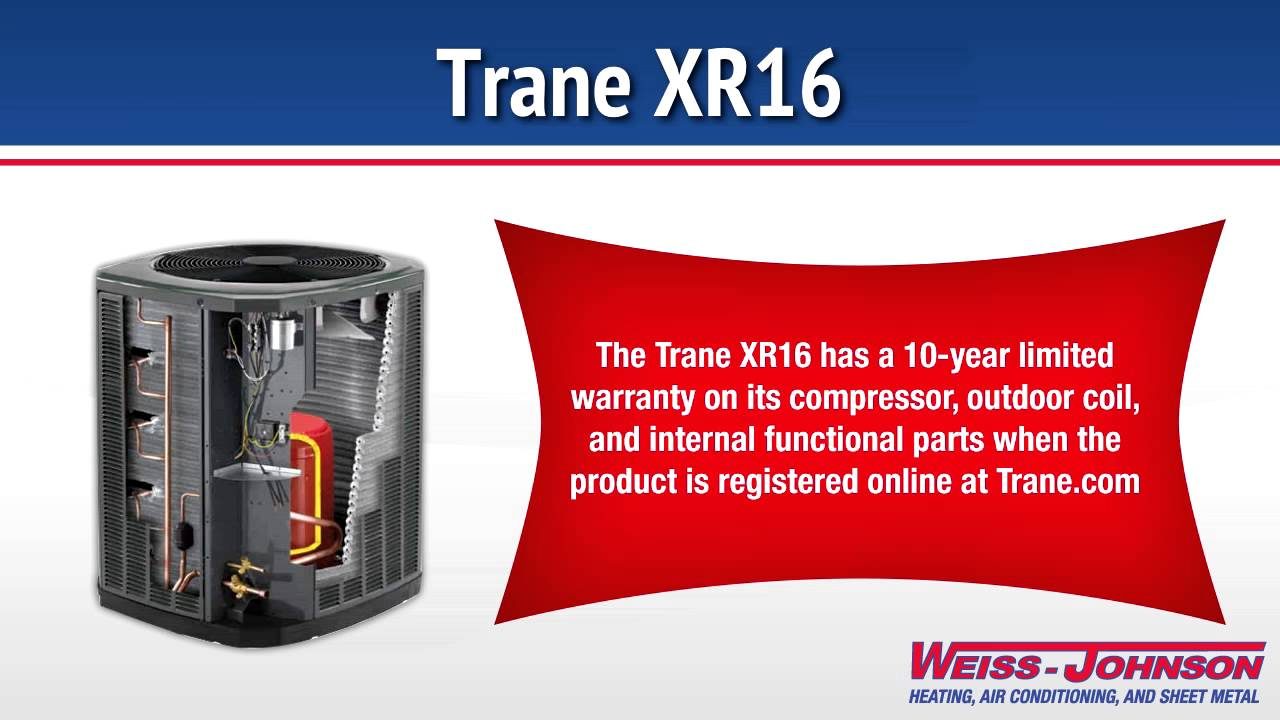 Trane Xr16 Air Conditioner Youtube
