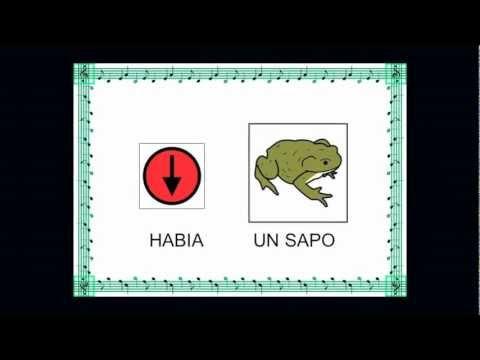 CANCIÓN HABIA UN SAPO. CON PICTOGRAMAS