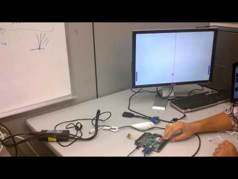 Pong Game On Nexys 3 Board (with Xilinx Spartan-6 FPGA)