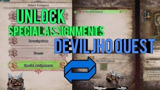 MHW Unlock Special Assignments and Deviljho Quest The Food Chain Dominator
