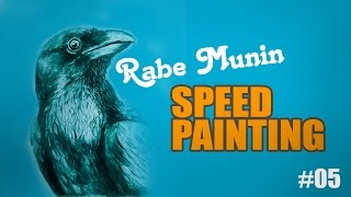 Speed Painting: Der Rabe