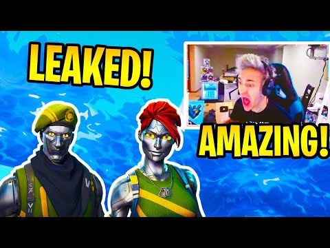 NINJA REACTS TO NEW *LEAKED* DIECAST & CHROMIUM ROBOT SKINS! - FORTNITE FUNNY & EPIC MOMENTS