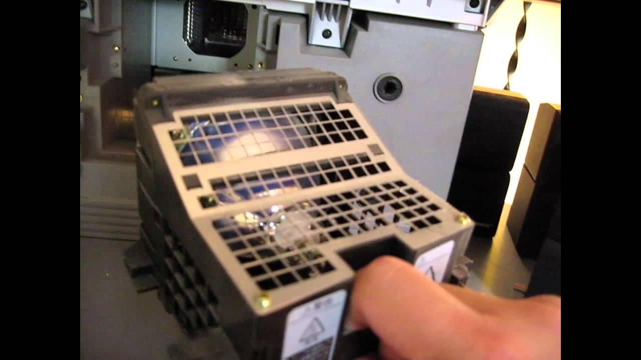 Replacing a Sony XBR Rear Projection LCD TV Lamp Assembly - YouTube