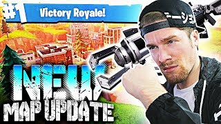 VICTORY ROYALE 1ST TRY! - NEW MAP UPDATE in Fortnite: Battle Royale