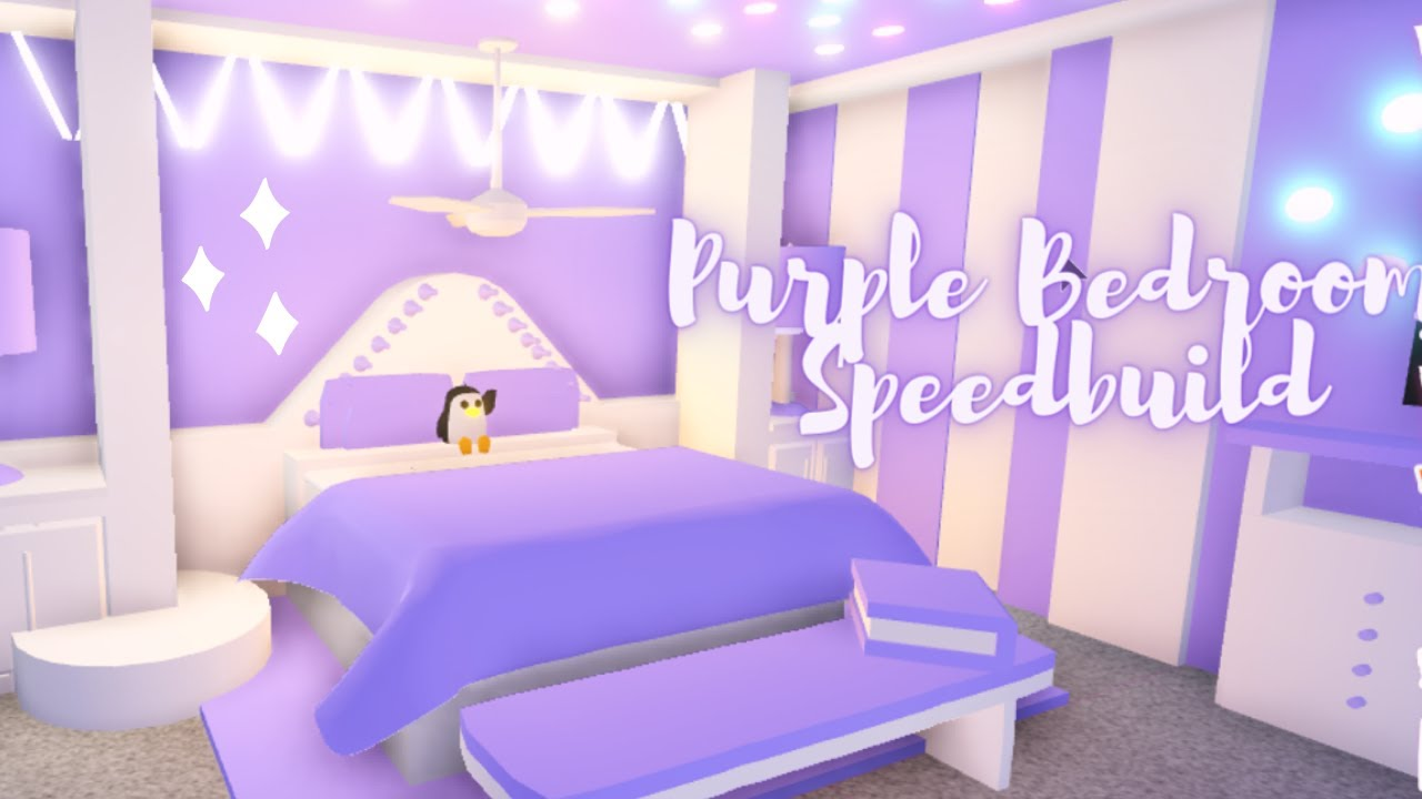 Aesthetic Purple Bedroom Roblox Adopt Me Youtube