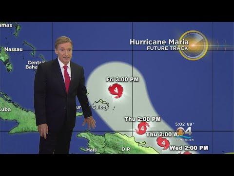 Tracking Hurricane Maria 9-19-17 5PM