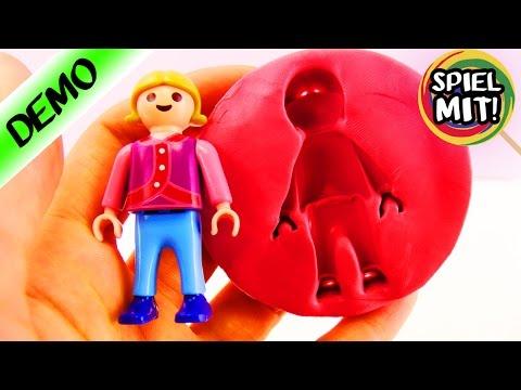Playmobil Silikonform selber machen | Kathi bastelt eine Form für Seife, Form Clay,Wolkenschleim
