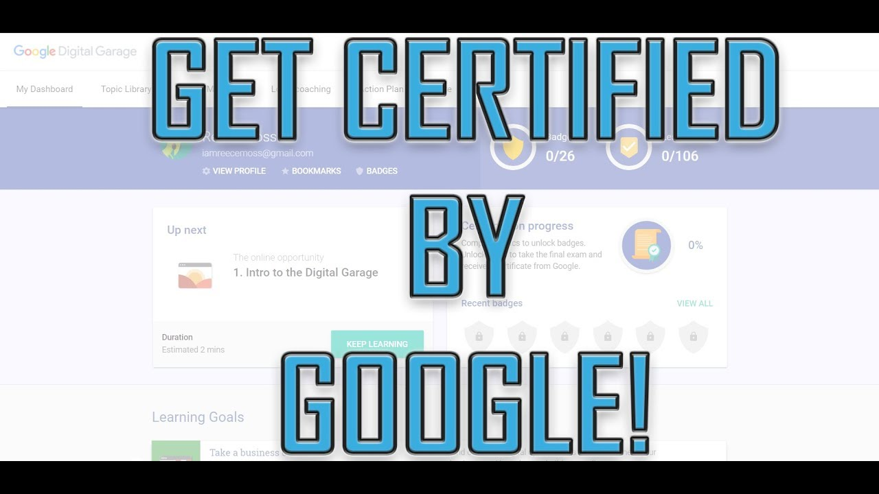 How To Get Google Certification In Digital Marketing Free Google