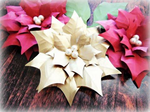 Paper Poinsettia Flower Tutorial
