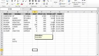 302 Excel'de Sayfalar Arasında Geçiş Yapma
