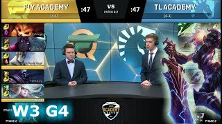 FlyQuest Academy vs Team Liquid Academy | Week 3 of S8 NA Academy League Spring 2018 | FLYA vs TLA