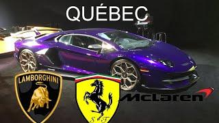 Voiture de luxe au salon de l'auto Québec ( lamborghini, ferrari et mclaren )