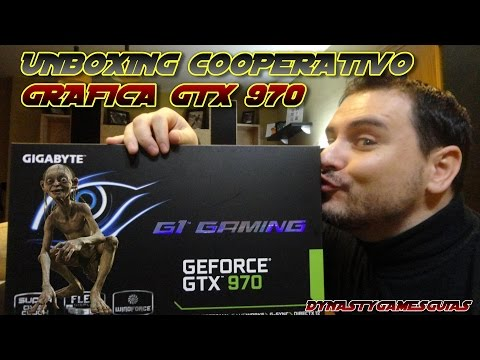 Unboxing cooperativo Tarjeta gráfica G1 Gaming NVIDIA GeForce GTX 970 4GB