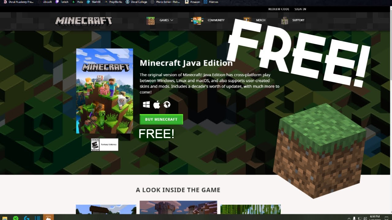 HOW TO GET MINECRAFT (BEDROCK EDITION) FOR FREE! - YouTube