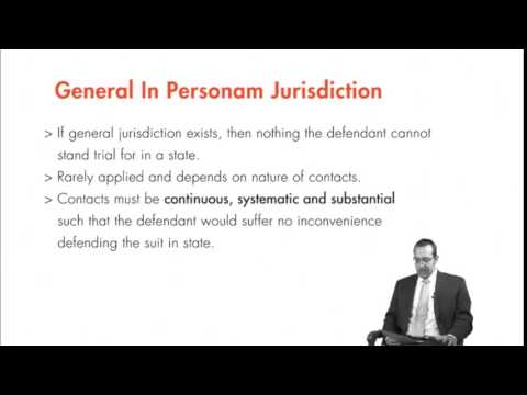 Module 2.4: General and Specific Jurisdiction
