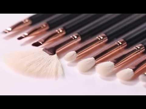 docolor makeup brushes  15 pieces rose gold makeup