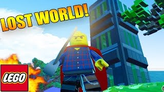 LEGO Worlds - LEGO LAND SEARCH FOR THE LOST WORLD! Exploring New Items & vehicles! #5 (LEGO Worlds)