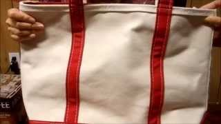 L.L.Bean boat and tote first impression