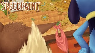 Mapping Home || Pokemon Mystery Dungeon Speedpaint