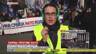 В Сербии на митинг против НАТО вышли тысячи человек