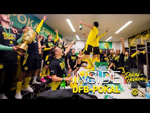 Inside DFB-Cup: wild celebrations from the dressing room | Leipzig - BVB 1:4