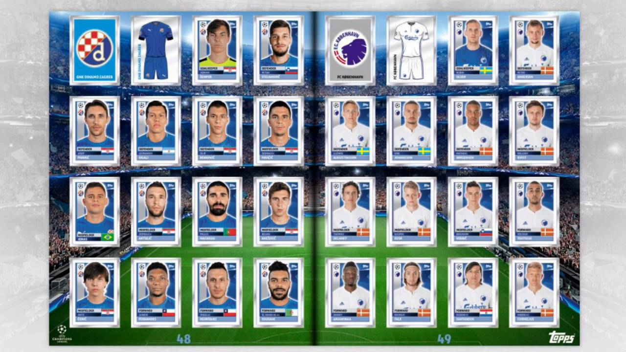 Completed Topps Uefa Champions League Digital Album 2016 17 Youtube