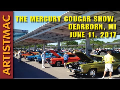 mercury cougar show dearborn mi june 11 2017 youtube. Black Bedroom Furniture Sets. Home Design Ideas