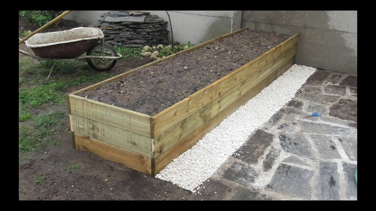 Comment construire une grande jardini re youtube for Grande jardiniere beton