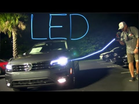 🌑 NIGHT REVIEW (2018) Volkswagen TIGUAN SEL Premium - LED Lighting ➕ Night Test Drive