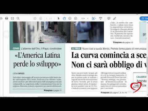 I giornali in edicola - la rassegna stampa 20/11/2020