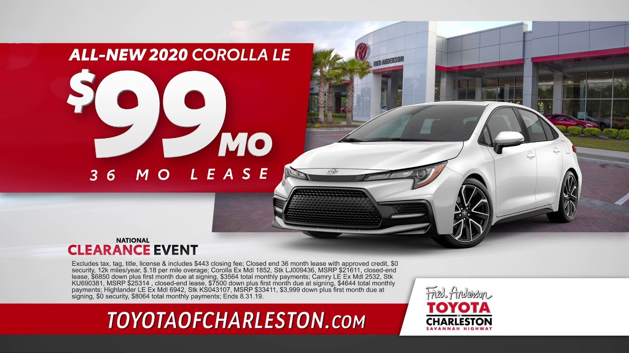 Toyota Of Charleston >> Fred Anderson Toyota Of Charleston National Clearance Event