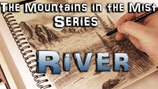 How to Draw a River - Mountains in the Mist Part 6