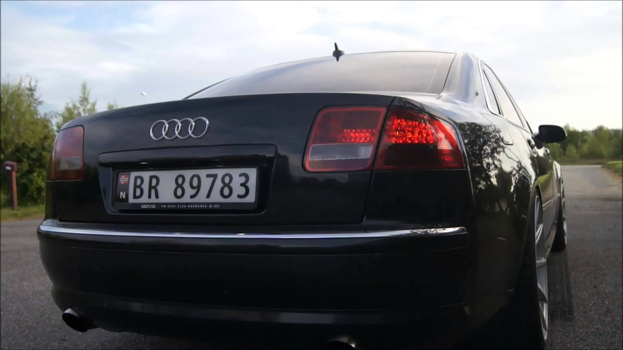 audi a8 d3 4e v8 tdi exhaust sound youtube. Black Bedroom Furniture Sets. Home Design Ideas