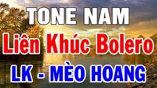 Karaoke Nhạc Sống Bolero Trữ Tình TONE NAM | Liên khúc Rumba Mèo Hoang | Trọng Hiếu