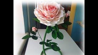 интерьерная роза из фоамирана своими руками мастер класс