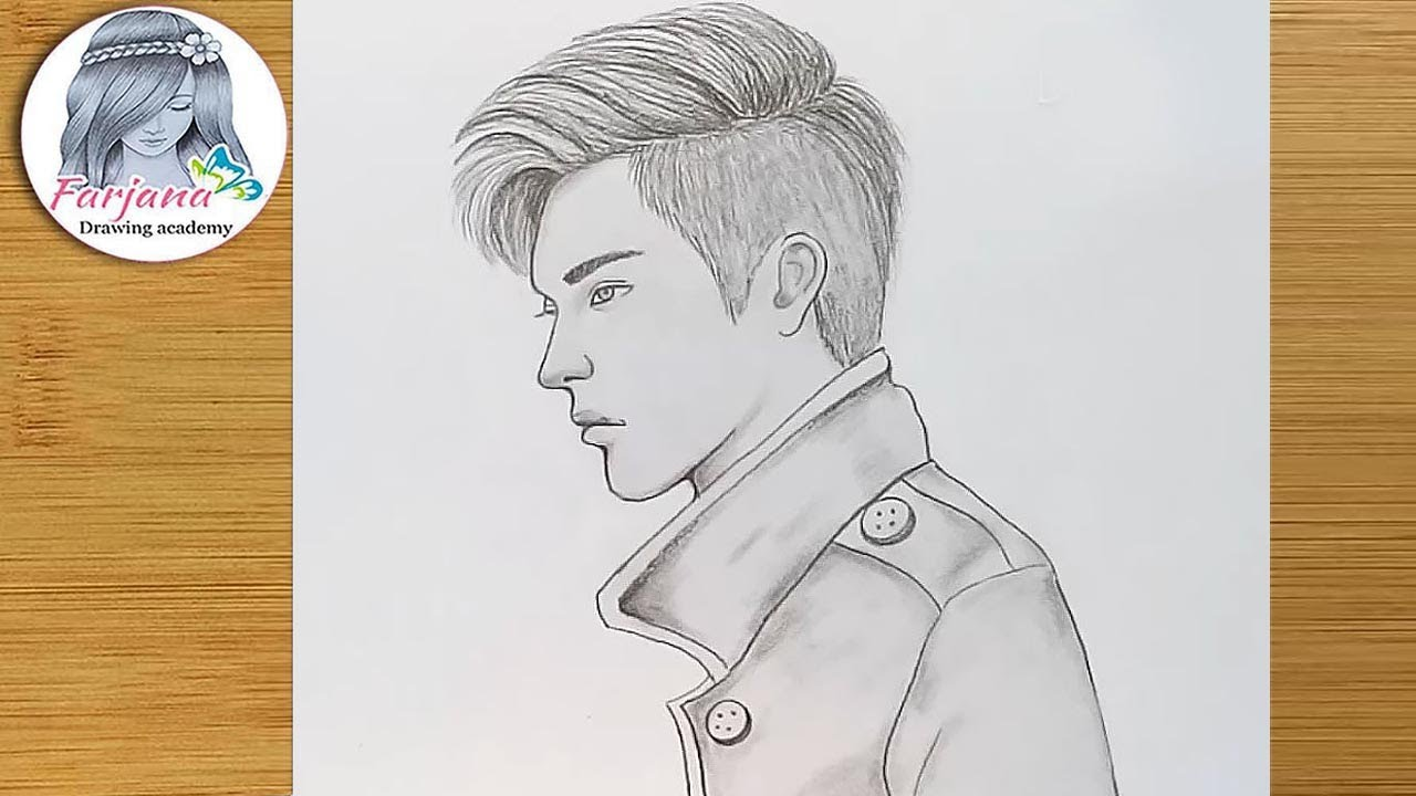 How to draw a boy boy pencil sketch farjana drawing academy