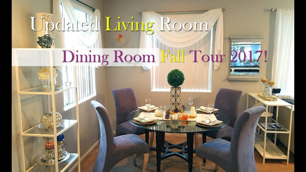 UPDATED GLAM LIVING ROOM AND FALL DINING TOUR 2017
