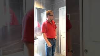 En-suit bathroom design with a Jack & Jill pocket door system