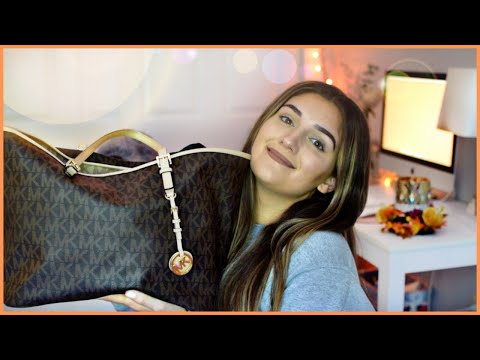 what's in my purse? Michael Kors Jet Set (+ surprise unboxing) | Amber Greaves thumbnail