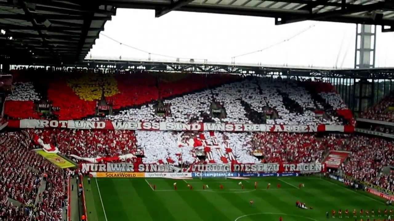 FC Köln  Fortuna Düsseldorf Choreo von den FC Köln Fans