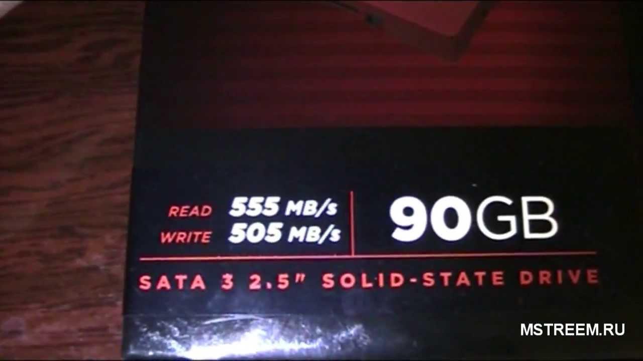 Обзор SSD Corsair GT 90 Гб
