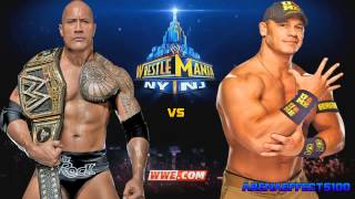 WWE Wrestlemania 29 [John Cena vs. The Rock] Theme Song - Letters From The Sky (ArenaEffects) + DL