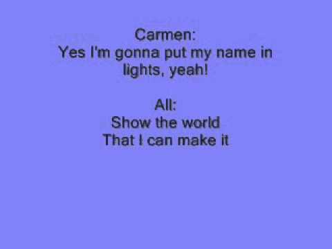 Fame: Hard Work Reprise with lyrics
